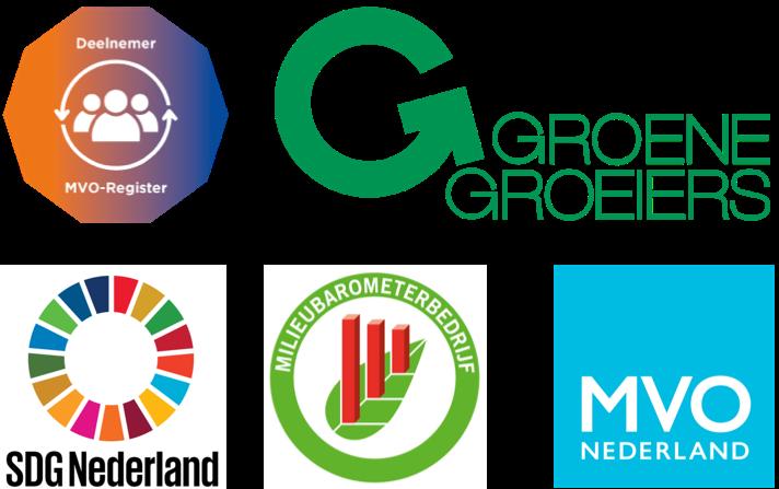 MVO-Register; MVO Nederland; SDG Nederland; Milieubarometer; GroeneGroeiers